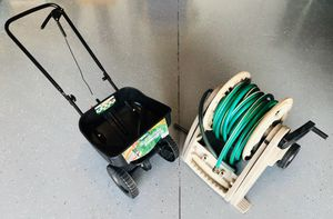 Turf Builder Spreader, 30 feet of Hose with Holder and 3 Sprinkle Heads for Sale in Seminole, FL
