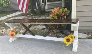 Farm house style bench for Sale in Westlake, FL