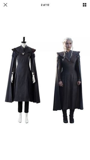 Game of thrones season 7 Daenerys Targaryen mother of dragons gray dress cosplay costumes size large for Sale, used for sale  Los Angeles, CA