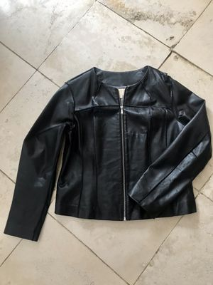Michael's Kors black leather jacket for Sale in Barrington, IL