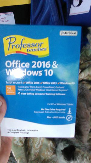 Brand new and Unopened Professor teaches office 2016 & windows 10 for Sale in Colorado Springs, CO
