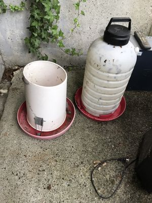 Chicken feeder and waterer for Sale in Snohomish, WA
