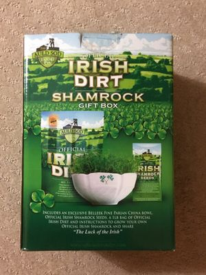 Irish Shamrock Seeds and Soil with Belleek dish for Sale in North Palm Beach, FL