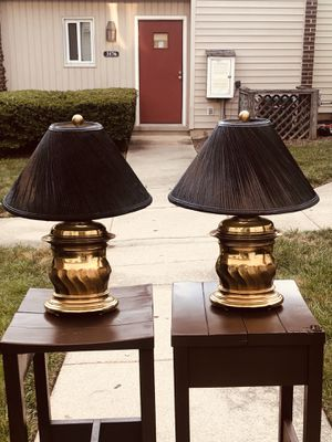 Black and gold French vintage lamp set of two for Sale in Alexandria, VA