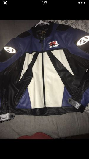 Suzuki leather motorcycle jacket for Sale in Brooklyn, NY
