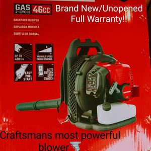Brand New/Unopened Craftsman Backpack Blower for Sale in Lakewood, WA