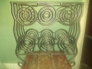 Wrought Iron Magazine Rack for Sale in Penn Hills, PA