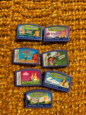 Leapster games- sold separate for 5$ or all for 20$ for Sale in Rancho Cucamonga, CA