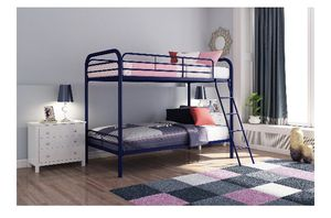 DHP Twin over Twin Metal Bunk Bed Frame, Navy Blue Color j1-1835 for Sale in St. Louis, MO