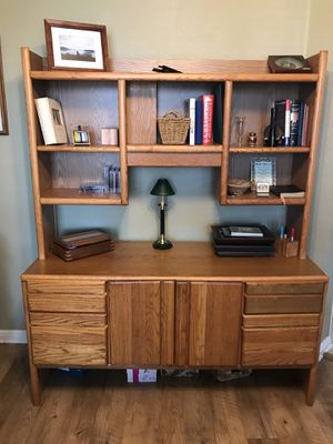Desk cabinet computer bookshelf for Sale in Georgetown, TX