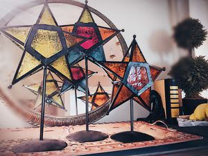 Stained Glass Star Luminaries for Sale in Alexandria, LA