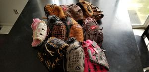 Lot of 10 right hand youth baseball gloves for Sale in Middle River, MD