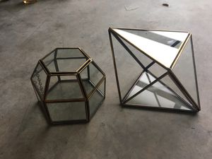 Modern brass glass display boxes for Sale in Seattle, WA