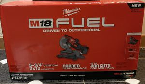 """Milwaukee 10"""" dual bevel sliding compound miter saw 2734-21HD for Sale in Grafton, MA"""