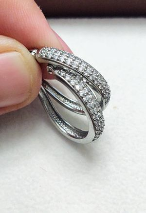 Stirling Silver Earrings With Cubic Zirconia for Sale in Heathrow, FL