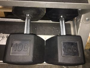 100lbs Tag Rubber Coated Dumbbells for Sale in Addison, TX