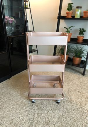 Rose/Blush Pink Craft Utility Cart for Sale in San Francisco, CA
