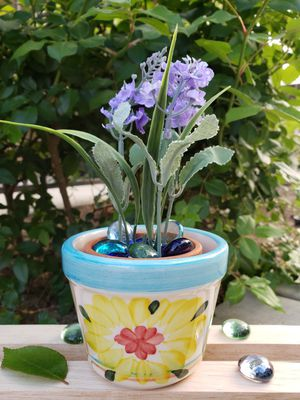 Ceramic plant pots. Hand made painted for Sale in Moreno Valley, CA