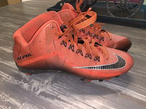 Nike Alpha Pro Mid Football Cleats Sz 10 for Sale in Lake Worth, FL