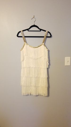 women's Venus fringe dress Ivory M for Sale in Tampa, FL