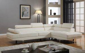 Pick Today☄Brand New White Leather Sectional☄ for Sale in Jessup, MD