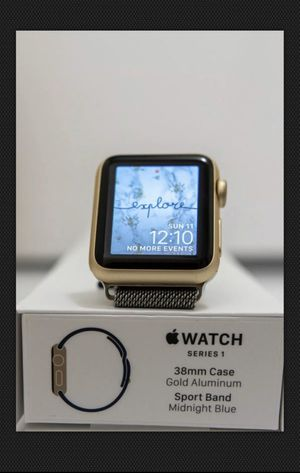 Apple Watch Series 1 38mm Gold Aluminum Case Midnight Blue Sport Band Bundle for Sale in Miami Springs, FL