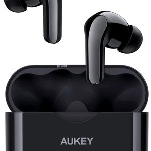 AUKEY True Wireless Earbuds, Bluetooth 5 Headphones with Powerful Bass, USB-C Quick Charge, Integrated Microphone, 25 Hours Playtime, IPX5 Waterproof, for Sale in Brooklyn, NY