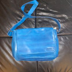 NWT Cole Haan Hand Painted Blue Messenger Bag for Sale in Vienna,  VA