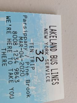 Lakeland Bus Ticket for Sale in Parsippany-Troy Hills,  NJ