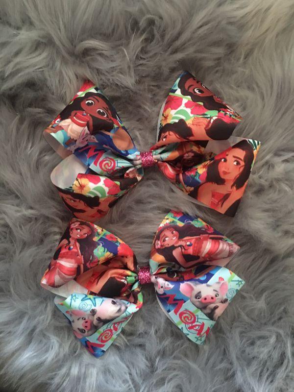 Moana bows can be made in headbands