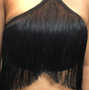 Glamorous fringe strechable halter top with side zip for Sale in Sunnyvale, CA
