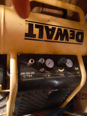 2 air compressors for sale dewalt and central pneumatic for Sale in Lansing, KS