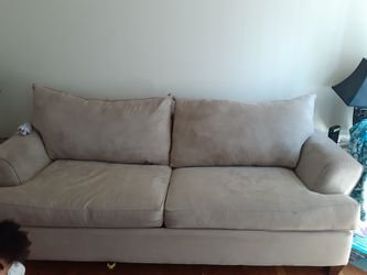 Microfiber tan couch for Sale in St. Louis,  MO