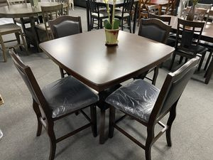 5-Pc Brown Counter Height Dining Set for Sale in Fresno, CA