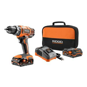 RIDGID 18-Volt Lithium-Ion Cordless 2-Speed 1/2 in. Compact Drill/Driver Kit with (2) 1.5 Ah Batteries, Charger, and Tool Bag for Sale in Villa Rica, GA