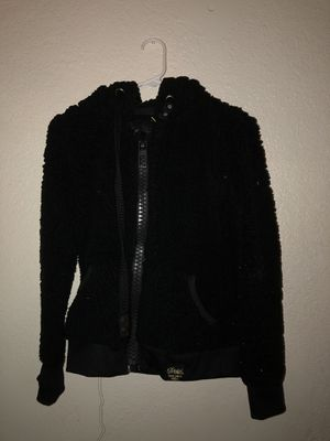 Black Ladies Large Hooded Fleece Sweater for Sale in Fresno, CA