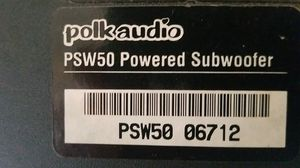 Polk Audio PSW50 Powered Subwoofer...👏 reviews 4.5 👏 for Sale in Vancouver, WA