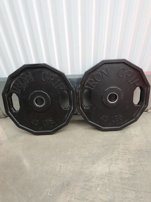 American Made Iron Grip 45lbs Olympic Weight Plates for Sale in City of Industry, CA