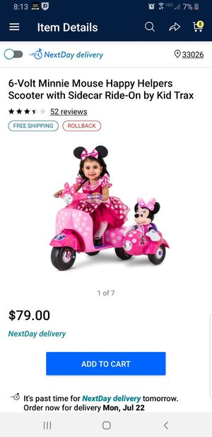 Minnie mouse ride on for Sale in Pembroke Pines, FL
