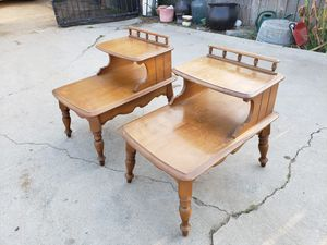 Vintage Maple wood end tables for Sale in Covina, CA