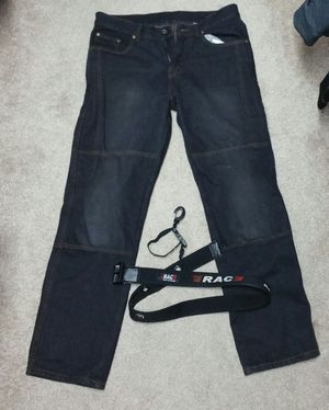 34x34 Motorcycle Armor protective denim kevlar jeans by RAC3 for Sale in Northlake, IL