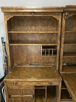 Wall unit hutch and adjoining large desk for Sale in Tempe, AZ