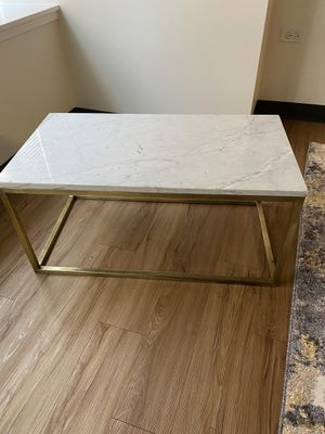 Marble and Brass coffee table for Sale in Chicago, IL