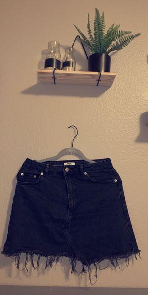 Top shop black distressed denim skirt for Sale in Lake Stevens, WA