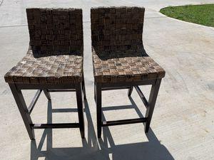 Pier one woven wood bar stools for Sale in Oak Ridge, TN