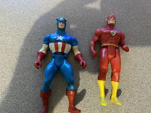1983 captain america & Flash super powers action figures for Sale in Houston, TX