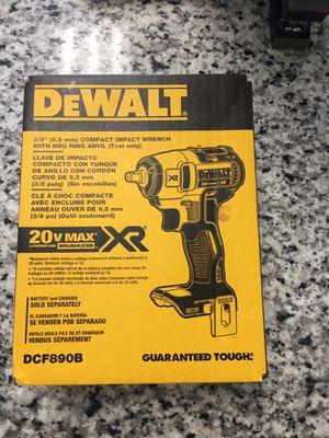 "New Dewalt DCF890B 3/8"" 20V 20 Volt Max XR Brushless Impact Wrench NIB Bare Tool #16146-2 for Sale in Revere, MA"