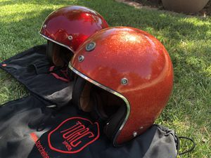 His & Hers matching Torc 3/4 Retro style Metallic Sparkle Metal Flake Motorcycle Helmets for Sale in Longmont, CO