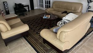 Furniture -cream sofa, loveseat and chair, for Sale in Duluth, GA