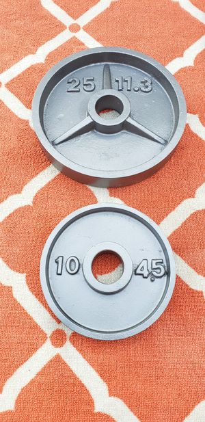 Olympic Weight Plates 25lbs 10lbs for Sale in Alsip, IL
